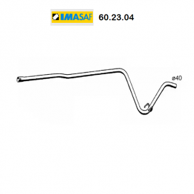 CENTRAL EXHAUST GAS HOSE RENAULT SUPER 5 IMASAF FOR 7700760430