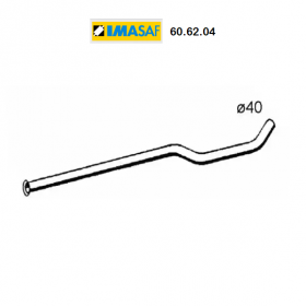 CENTRAL EXHAUST GAS HOSE RENAULT R14 IMASAF FOR 7700691174