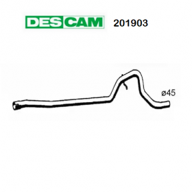 CENTRAL EXHAUST GAS HOSE RENAULT FUEGO DESCAM FOR 7700691313