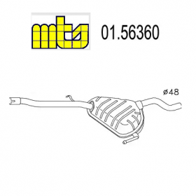 CENTRAL SILENCER FIAT TIPO - TEMPRA - LANCIA DEDRA MTS FOR 7662701