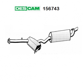 CENTRAL SILENCER ALFA ROMEO 155 2.5 TD DESCAM FOR 60580021
