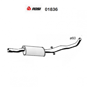 CENTRAL SILENCER ALFA ROMEO 75 - 90 ROSI FOR 60533569