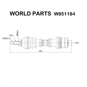 FRONT RIGHT AXLE SHAFT RENAULT
