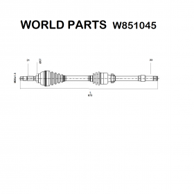 FRONT HALF-AXLES RIGHT PEUGEOT 306 WORLD PARTS FOR 3273Z4