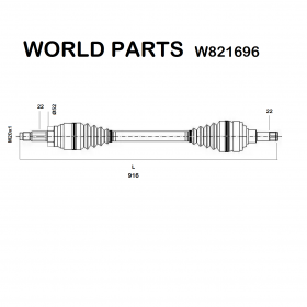 FRONT HALF-AXLES RIGHT OPEL COMBO - CORSA - TIGRA WORLD PARTS FOR 374221