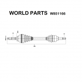BILATERAL FRONT AXLE SHAFT RENAULT ESPACE - R18 WORLD PARTS FOR 7701349034