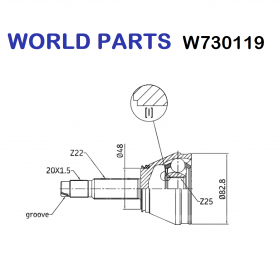HALF-AXLES JOINT WHEEL SIDE FIAT UNO TURBO I.E WORLD PARTS FOR 82448780  Icona di Verificata con community