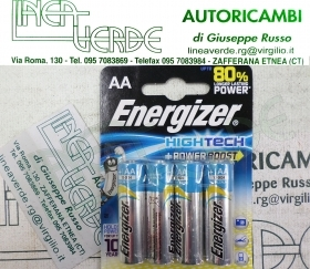 BATTERIE STILO AA L36 ENERGIZER BLISTER 4PZ HIGHTECH