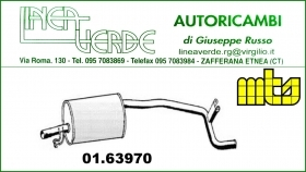 REAR MUFFLER FIAT PANDA AUTOBIANCHI Y10 - the LANCIA Y10 FOR 7570005